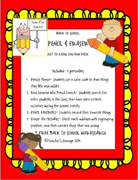 BACK TO SCHOOL WORDSEARCH & ACTIVITY FUN PACK
