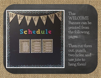 FREEBIE! Back to School Welcome Burlap and Chalkboard Banner/Pennant