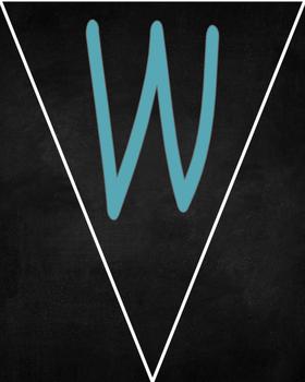 Freebie! Back to School Welcome Chalkboard Banner Blue