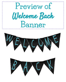 FREEBIE! Back to School Welcome Chalkboard Banner Blue