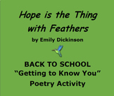 BACK TO SCHOOL:  What Do You Hope? Poetry/Goal Setting Activity