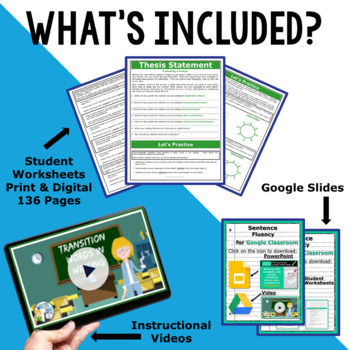 WRITING & GRAMMAR - BACK TO SCHOOL ENGLISH BUNDLE!!! - 10th Grade