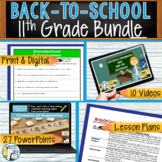 WRITING & GRAMMAR - BACK TO SCHOOL ENGLISH BUNDLE!!! - 11th Grade