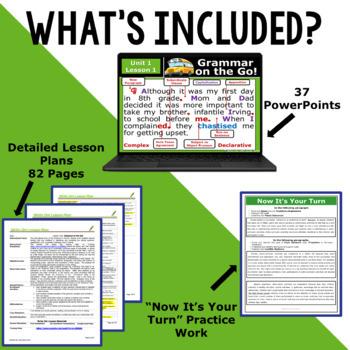 WRITING & GRAMMAR - BACK TO SCHOOL ELA BUNDLE!!! - 8th Grade