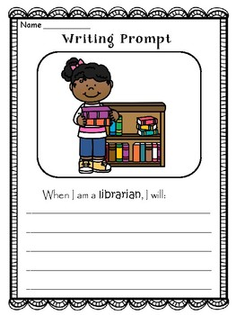 BACK TO SCHOOL -  Writing Prompts - Classroom Jobs