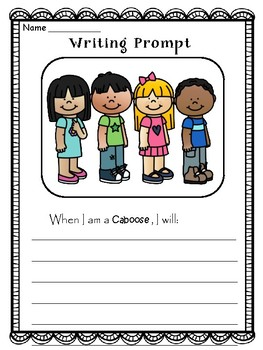 Winter  Writing Prompts - 72 Classroom Jobs