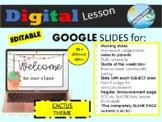 BACK TO SCHOOL distance learning GOOGLE SLIDES for HYBRID