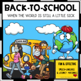 BACK-TO-SCHOOL story and posters COVID RULES Early Literacy Speech Therapy