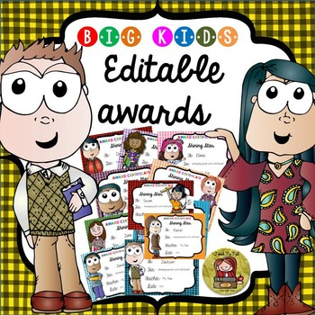 BACK TO SCHOOL/END OF YEAR EDITABLE AWARDS {BIG KIDS}