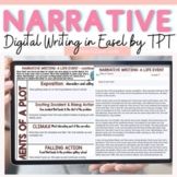 PERSONAL NARRATIVE WRITING STRUCTURAL ELEMENTS (PLOT) PRINT & DIGITAL EASEL