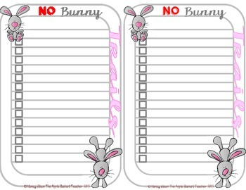 BACK TO SCHOOL~Keep Your Focus NO Bunny Trails Jot Notes