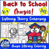 BACK to SCHOOL Music Lesson SEL Activities Theory Listenin