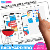 BACKYARD BBQ Digital Editable Google Slide Secret Picture
