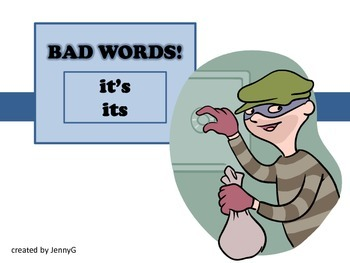 BAD WORDS its it's by JennyG