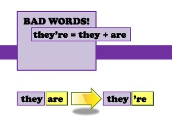 BAD WORDS there their they're by JennyG