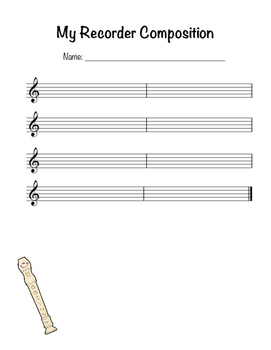 BAG Recorder Composition Staff Paper