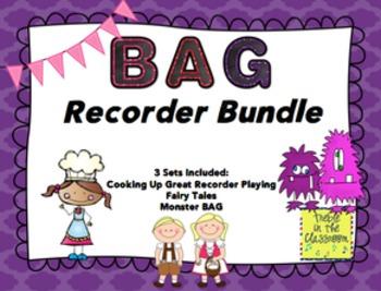 BAG Recorder Stations and Worksheets BUNDLE