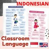 BAHASA INDONESIA Classroom Language Posters | English Indonesian Bilingual