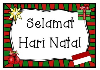 merry christmas in indonesian