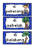 BAHASA INDONESIA prepositions  WORD WALL flashcards