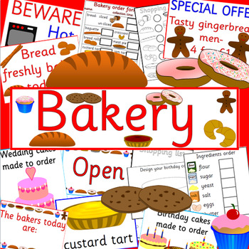 BAKERY role play pack- dramatic play
