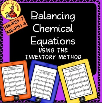 BALANCING CHEMICAL EQUATIONS Using The Inventory Method MS PS1 5 HS PS1 7