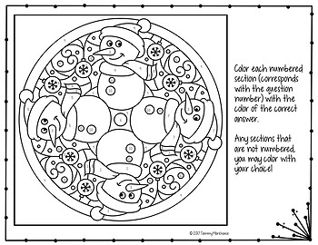 BALANCING CHEMICAL EQUATIONS WINTER COLORING PAGE, QUIZ