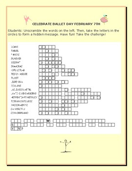 BALLET DAY- FEBRUARY 7TH