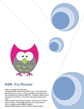 BAM! A Fry Phrase Game - List 1