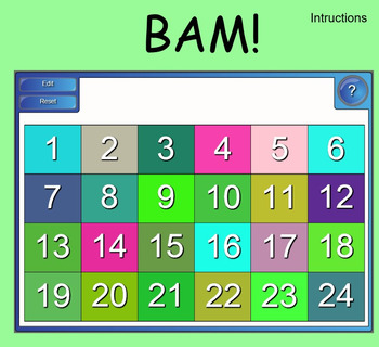 BAM - Algebra Question Game