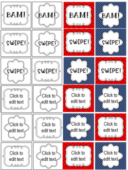 BAM Editable Spelling Practice Card Game