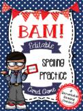 BAM Editable Spelling Practice Card Game