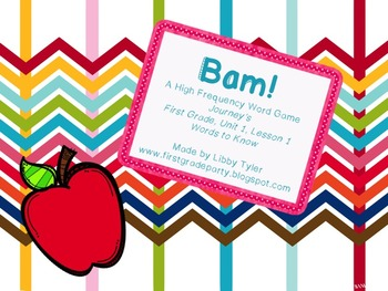 BAM! High Frequency Word Practice FREEBIE