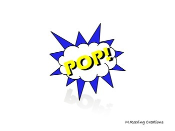 BAM POW POP super hero words