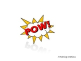 BAM POW POP super hero words