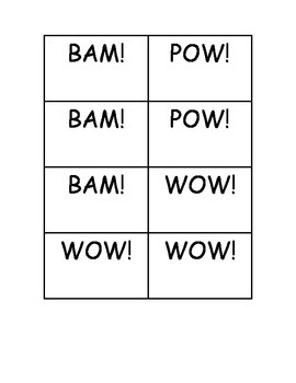 BAM! POW! WOW! Dolch Sight Word First Grade Practice