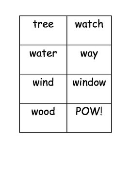 BAM! POW! WOW! Dolch Sight Word Nouns Practice