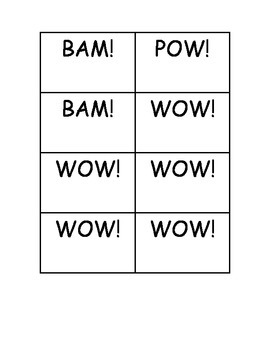 BAM! POW! WOW! Dolch Sight Word PrePrimer Practice