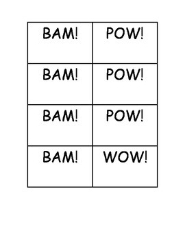 BAM! POW! WOW! Dolch Sight Word Primer Practice
