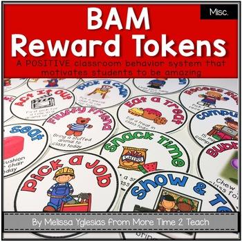 BAM: Positive Classroom Management & Reward Tokens
