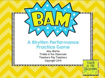 BAM Small Group Rhythm Practice Game (Quarter and Eighth Note Edition)