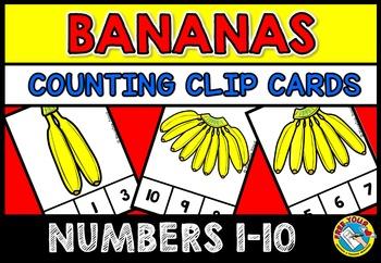BANANA THEME ACTIVITIES: KINDERGARTEN PRINTABLES: BANANAS COUNTING CENTER
