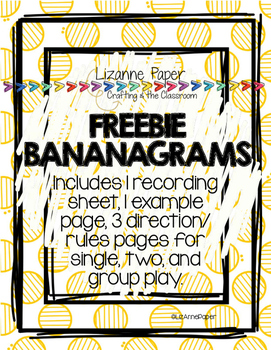 BANANAGRAMS Freebie