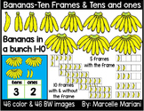 Place value clipart & ten frames -Counting Bananas clipart