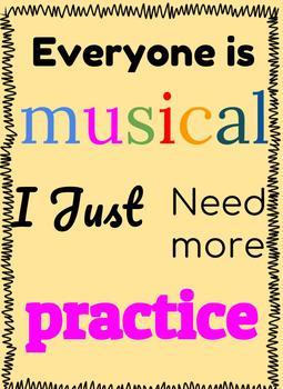 BAND/Chorus/Orchestra Classroom Poster FREE