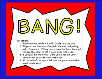 BANG! A Multiplication Game for Students