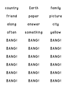 BANG! A Popsicle Stick Vocabulary Game {Nat. Geo. 1st Grade Reach for Reading}