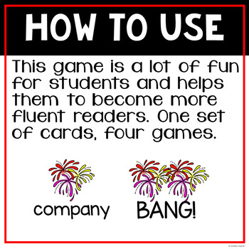 BANG! - A Sight Word Game