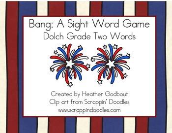 BANG: A Sight Word Game, Dolch 2nd Grade Words