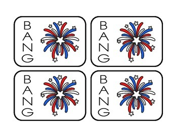 BANG: A Sight Word Game, Dolch Pre-Primer Words